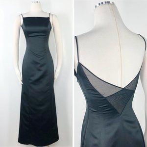 Vera Wang 4 Black Satin Spaghetti A Formal Dress E